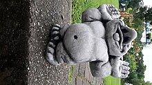 Steinfiguren ca. 7000 gr. schwer Gnom Gollom mit Zunge raus Zwerge Gartenzwerge