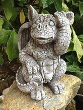 Steinfiguren Drache Fantasiefigur Garten Deko