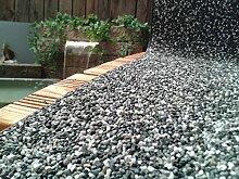 Steinfolie Kiesfolie Granit Grau Teichrand Naturstein Bachlauf 0,50 x 9,0 m Moderner Teichbau Randbau 29,43 Euro / m²