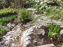 Steinfolie Kiesfolie Teichfolie Bachlaufdeko Naturstein Bachlauf 0,40 x 9,0 m Natursand 29,80 Euro / m²