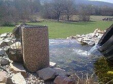 Steinfolie Kiesfolie Teichfolie Bachlaufdeko Naturstein Bachlauf 0,60 x 8,0 m Natursand 29,34 Euro / m²