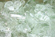 Steingrau Glasbrocken Glassplitt Dekoglas Gabionen