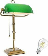 STEINHAUER 7961BR Schreibtischleuchte Bankerslamp,