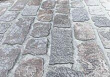 Steinoptik Tapete Greige - mit Stein-Optik Muster