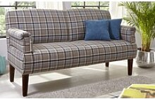 Steinpol Sit&More Dinner-Sofa Paisley in coffee,