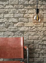 Steintapete in Beige Grau | schöne edle Tapete im