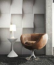 Steintapete Vinyl Grau Modern , schöne edle Tapete im Steinmauer Design , moderne 3D Optik für Wohnzimmer, Schlafzimmer oder Küche inkl. Newroom Tapezier Ratgeber mit Tipps für perfekte Wände