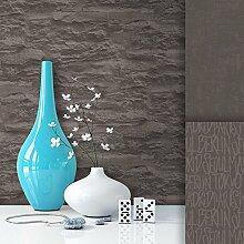 Steintapete Vliestapete Grau Creme Edel , schöne edle Tapete im Steinmauer Design , moderne 3D Optik für Wohnzimmer, Schlafzimmer oder Küche inklusive der Newroom Tapezier Profibroschüre mit super Tipps!