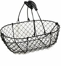 Stella Mini Drahtkorb mit Swing handle- schwarz