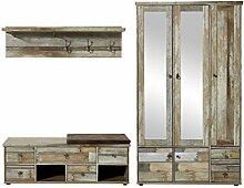 Stella Trading BZDD643081 Garderobenset, Holz,