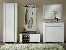 Stella Trading DOWW543080 Garderobe, Holz, weiß,