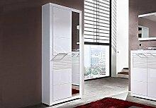 Stella Trading LEWW143001 Garderobe, Holz, weiß,