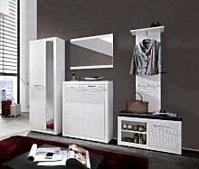 Stella Trading LEWW143080 Garderobe, Holz, Weiß,