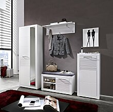 Stella Trading LEWW143081 Garderobe, Holz, Weiß,