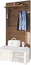 Stella Trading OGHH153041 Garderobe, Holz, braun,