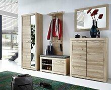 Stella Trading TABB383080 Garderobe, Holz, braun,
