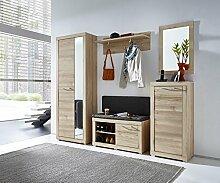 Stella Trading TABB383081 Garderobe, Holz, braun,