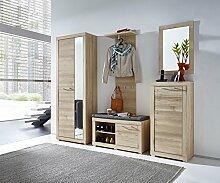 Stella Trading TABB383082 Garderobe, Holz, braun,