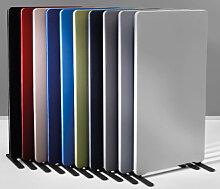 Stellwand Raumteiler LTX Edige Stoff hellgrau 80 x