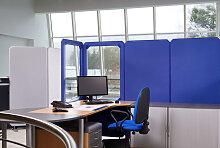 Stellwand Raumteiler Octagon Stoff mit Glas Höhe