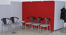 Stellwand Raumteiler Oktagon Stoff Höhe 120 x 80