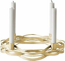 Stelton Adventskranz, Metall, Gold, Ø 27cm x H 7cm
