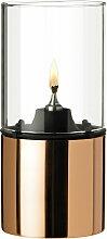 Stelton - Öllampe 1005-1 Kupfer mit Glasschirm, klar