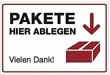 stempel-fabrik (Weiß, Aufkleber 300x200 mm) Text: