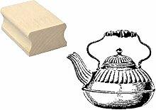 Stempel Holzstempel Motivstempel « TEEKANNE 01 »