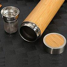 Stenof Bambus Teebecher mit einem langen Teesieb