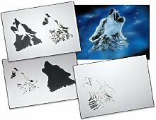 Step by Step Airbrush Stencil Template AS-001 M ca. 5,11 x 3,95 by UMR-Design