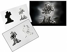 Step by Step Airbrush Stencil Template AS-115 M ca. 5,11 x 3,95 by UMR-Design
