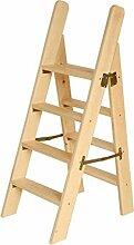 Stepladder 4 Schritt Hocker Massivholz