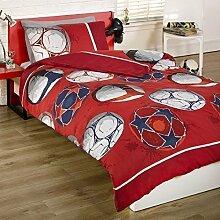 Steppdecke Bettwäsche Set Kinder Jungen Rot