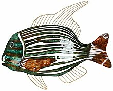 Stereoscopic Metallwand-Skulptur Tropischer Fisch