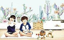 Stereoskopische 3D-Kinderzimmer-Tapete für Jungen