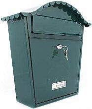 Sterling MB02BK Klassischer Briefkasten, Grün