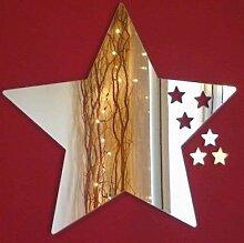 Stern-Entwurf Spiegel - 23 x 30 cm & 3 Kleine Sterne
