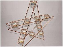 Stern mit Teelichter, Farbe Kupfer