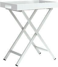 Stern Möbel Beistelltisch Tablett-Tisch grau,