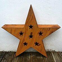 Stern Rost aus Metall Edelrost Höhe ca. 47cm