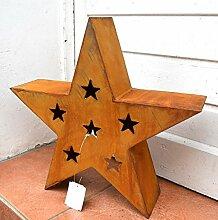 Stern Rost aus Metall Edelrost Weihnachtsdeko