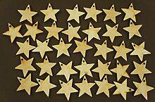 Sterne aus Holz, 2cm groß, blanko, hängende