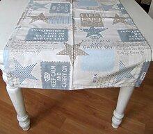 Sterne Blau Keep Calm Auswahlmöglichkeit Kissen, Mitteldecke oder Tischläufer, Variante:Läufer 50x140
