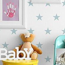 Sterne dupliziert Muster Kinderzimmer Wand