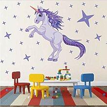 Sterne Einhorn Aufkleber Cartoon Wohnkultur Vinyl