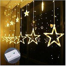 Sterne-Fenster-Vorhang-Schnur-Licht Plug In