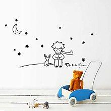 Sterne Mond Der Kleine Prinz Fox Grafik Wand Vinyl