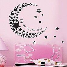 Sterne Mond Wand Aufkleber PVC Home Aufkleber House Vinyl Papier Dekoration Tapete Wohnzimmer Schlafzimmer Küche Kunst Bild DIY Wandmalereien Mädchen Jungen Baby Kinderzimmer Spielzimmer Decor