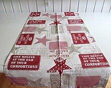 Sterne Rot Keep Calm Auswahlmöglichkeit Kissen, Mitteldecke oder Tischläufer, Variante:Läufer 50x140